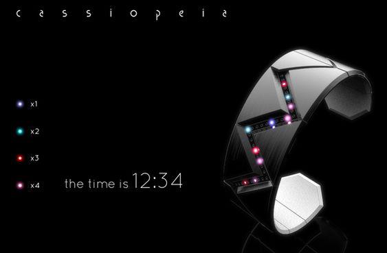 Cassiopeia - LED Watch by Sam Freeman