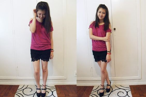 Looks Inspiration: Lace Shorts