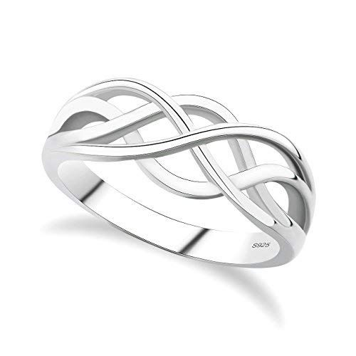 925 STERLING SILVER CHAIN BAND RING size N