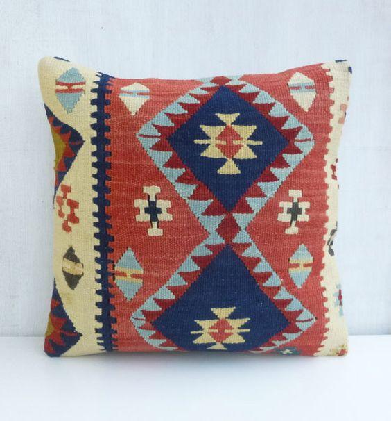 Bohemian Decor Kilim Pillow Case Ethnic Cushion Cover Decorative Turkish Sham 40x4016x16 Modern ...