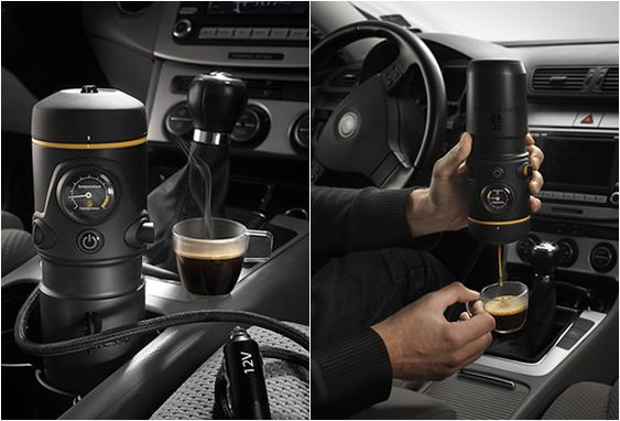 HANDPRESSO AUTO - just what I need. One more thing to distract me while driving. Compleletly into it though.