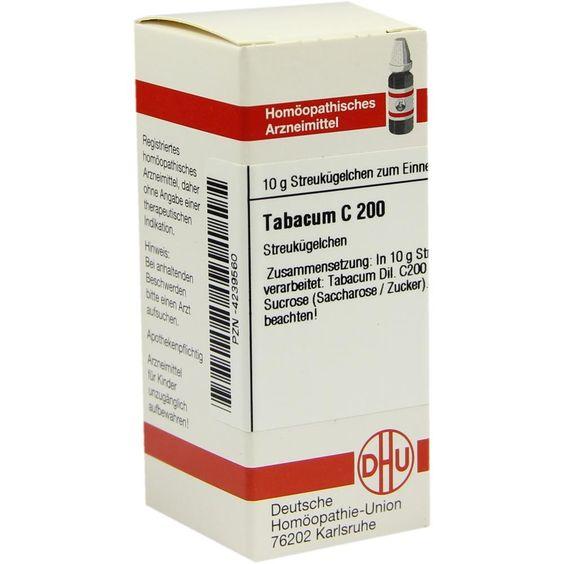 TABACUM C 200 Globuli:   Packungsinhalt: 10 g Globuli PZN: 04239560 Hersteller: DHU-Arzneimittel GmbH & Co. KG Preis: 9,10 EUR inkl. 19 %…