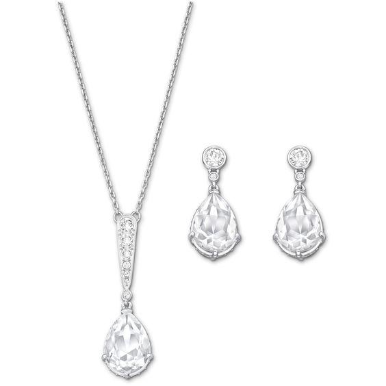 swarovski vintage pendant & Earring set
