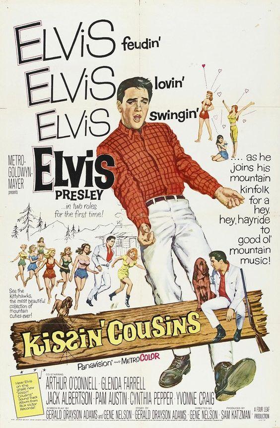 Elvis Movie Poster - Kissin'Cousins - 1964