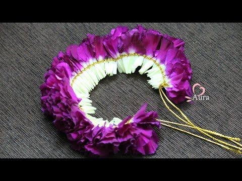 Bridal Veni Making Using Carnation Flowers Youtube Carnation Flower Floral Accessories Hair Fresh Flower Jewelry