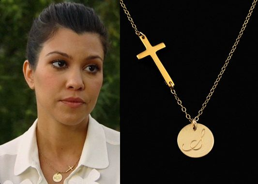 Initial Necklace. Mother's Day Gift Idea. Communion Gift.  Baptism Gift. Godmother Gift Idea. Cross Necklace.  Gold Initial Jewelry.  Celebrity Inspired. Trending Fashion.