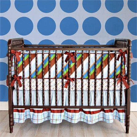 Make your nursery unforgettable with the stylishly over-the-top Gabe Crib Bedding Set from Caden Lane.  This fabulous bumper-less crib bedding set coordinates with all the pieces in the Star Dot baby bedding collection, so you can mix and match crib bedding separates and accessories to create your ideal nursery bedding collection