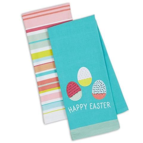 Happy Easter Kitchen Towels Set Of 2 Towel Set Happy Easter