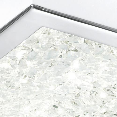 Moderne Designer-Leuchte Cardito mit Glas-Kristallen,...