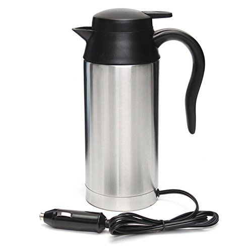 12v 750ml Stainless Steel Car Electric Heating Mug Drinking Cup Travel Kettle For Water Tea Coffee Milk Nepeicu Stainless Steel Cups Kettle Mugs