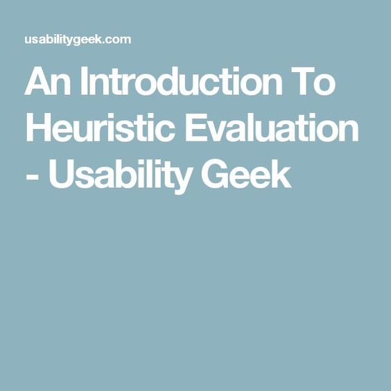 What Is A Heuristic Evaluation In Ux The Ux Blog Podcast Is Also