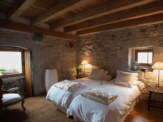 A lovely rustic guest room ~