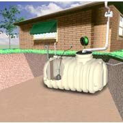RTS 1200 Gallon Complete Rainwater Harvesting System Underground Cistern: