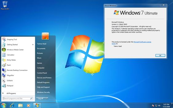 Windows 7 Starter Screenshot