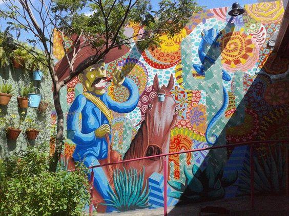 Painel em restaurante mexicano na Vila Madalena.