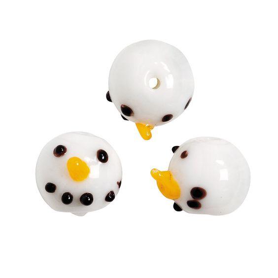 Snowman Beads - 3/8 - OrientalTrading.com