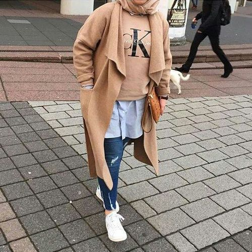 winter chic hijab- Fall hijab outfits in warm colors http://www.justtrendygirls.com/fall-hijab-outfits-in-warm-colors/: