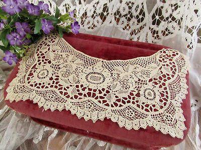 Antique-Schiffli-Lace-Collar-Intricate-Delicate-Pretty Vintageblessings