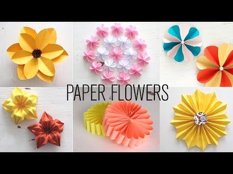 Diy Paper Flowers Very Easy And Simple Paper Crafts Youtube