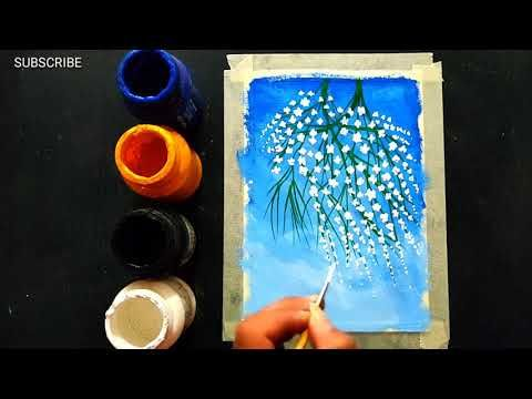 Easy Poster Colours Painting Ideas For Beginners Canvas Painting Acrylic Painting Youtube In 2020 Beginner Painting Poster Color Painting Painting
