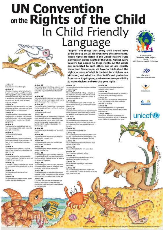 The UN convention on the rights of the child in child friendly language. Let them know their own rights.