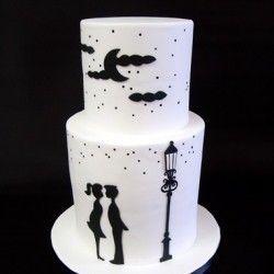 Romantic cake: White Cake, Pretty Cake, Cake Design, Amazing Cake, Engagement Cake, Wedding Cake