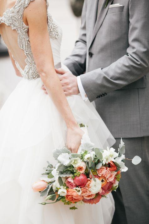Romantic bridal bouquet   Emily Wren Photography   Theknot.com