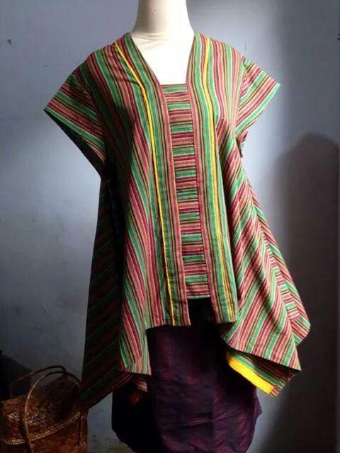 Model Baju Kebaya Lurik Kartini Modern Terbaru