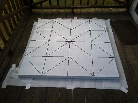 How to paint a barn quilt block