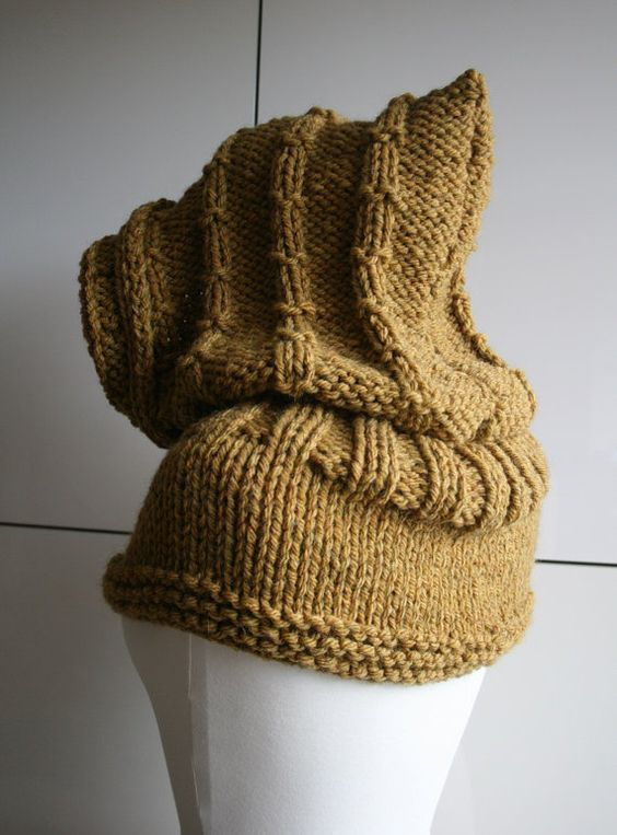 Hooded cowl, Knitting patterns and Cowls on Pinterest