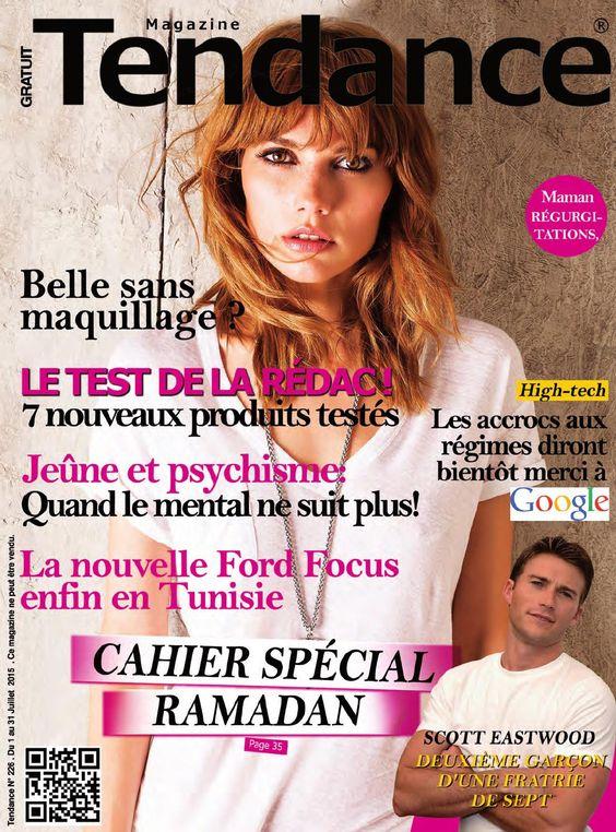 Tendance n°226  Magazine Tendance N°226 parution mensuelle, gratuit en Tunisie. Contact mail : redaction@tendancemag.com  Téléphone : 70 869 365