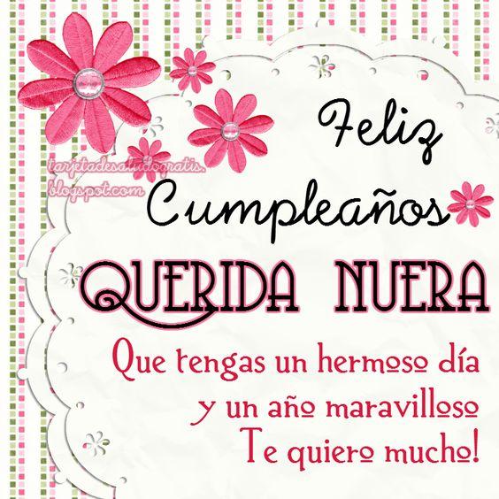 Tarjetas de saludo gratis Tartetas de cumpleaños personalizadas para AMIGA, NUERA, SUEGRA