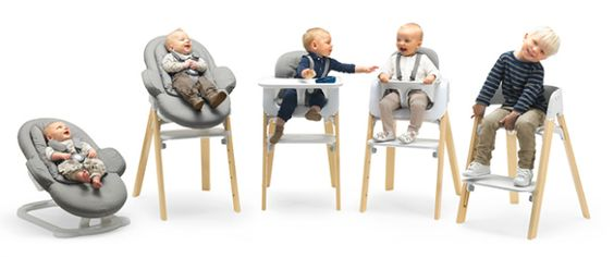 Inside look at @Amber Stokke® Steps, which brings baby to the family table from day one. Love, love this concept!