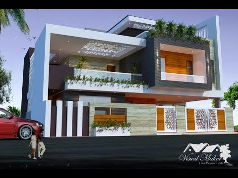 50 X50 Bungalow Design West Facing With Elevation Visual Maker In 2020 Bungalow Design West Facing House Modern House Design