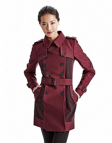 Women's Apparel | Trenchcoats | Military Trench | Lord and Taylor