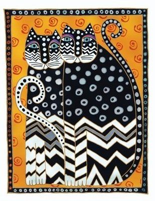 Cats. Laurel Burch.