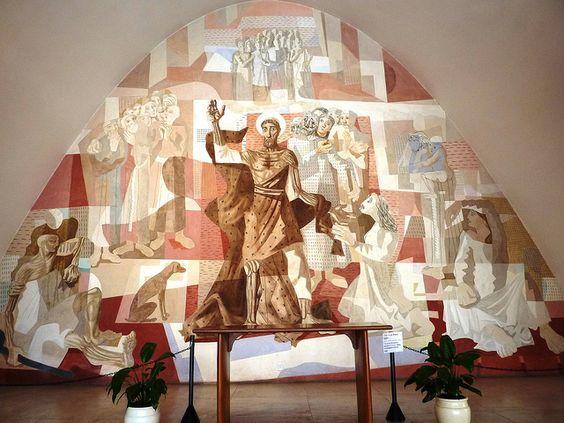 Altar Principal na Igreja da Pampulha, São Francisco, Pintura de Portinari by Célia Cerqueira, via Flickr