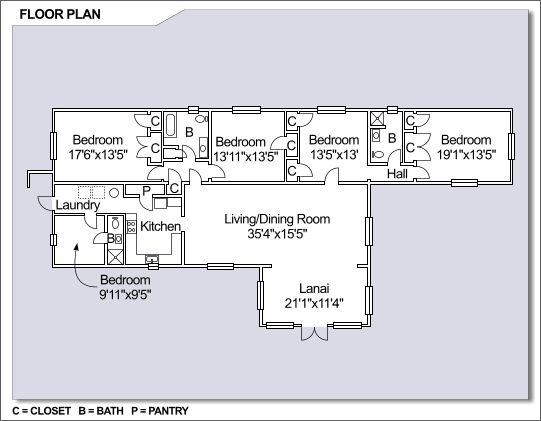 NS Guantanamo Bay   Radio Point Neighborhood  4 bedroom floor plan. NS Guantanamo Bay   Radio Point Neighborhood  4 bedroom floor plan