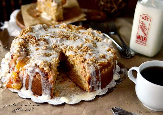 Now doesn't this Peaches cream Coffee Cake just look divine?! @tidymom