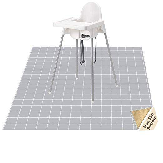 Highchair Floor Mat Baby Splat Mat For Under High Chair Arts Crafts Womumon Waterproof Spill Mat Non Slip Splash Mat Splat Mat High Chair Floor Mat Art Chair