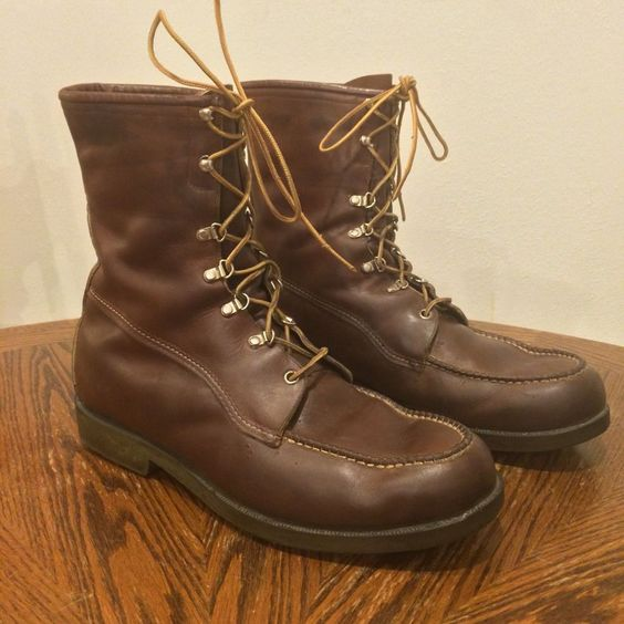 Sold --> Vintage Red Wing Irish Setter Brown Moc Toe Work Chore ...