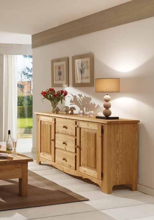 Buffet Bas 180cm Pin Cire Hannover Furniture Home Decor Decor
