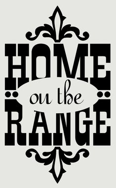 home on the range western wall decals vinyl stickers 23x14