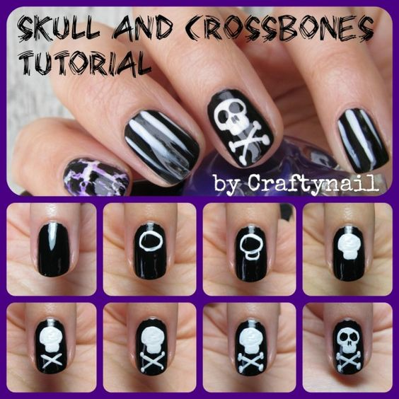 Check out my guest post at SEIZETHENAIL where I did a cool halloween tutorial for skull and crossbones nail art!