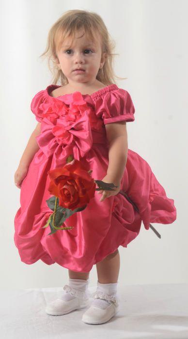 Vestido Bebê Floral Tafetá