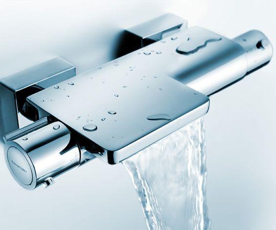 Mezclador termostático de baño-ducha Cromo by Ramon Soler. Thermostatic bath-shower mixer Cromo by Ramon Soler