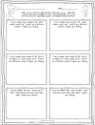 math worksheet : free rounding riddles  3rd grade  pinterest  rounding riddles  : Math Riddle Worksheets