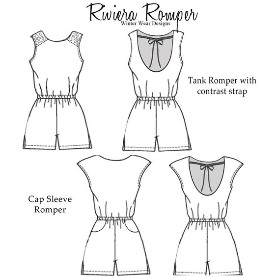 Womens Romper Sewing Pattern Free Image collections - origami ...