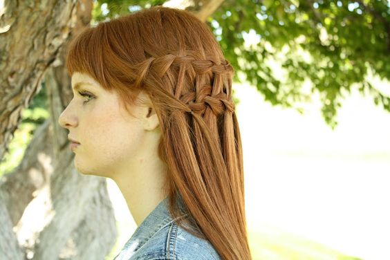 Waterfall Braid Tutorial from The Letter 4!