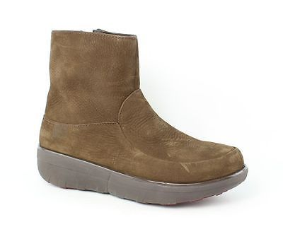 FitFlop Loaff Shorty Brown Boots Womens size 7 M New $185